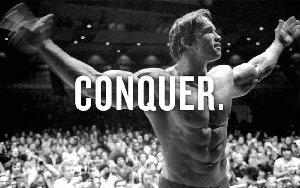 conquer schwarzenegger gym poster