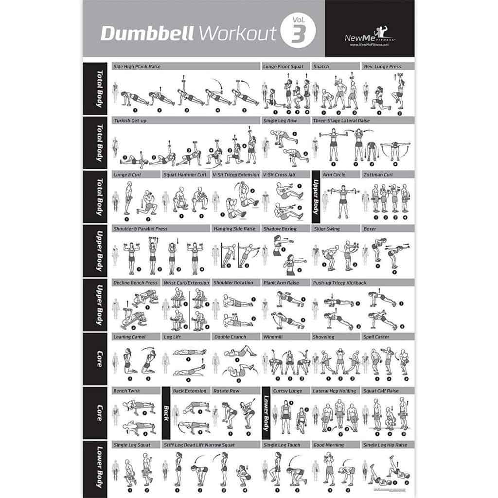 dumbbell workout gym poster