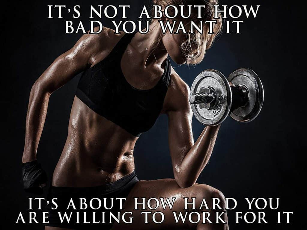 how hard are you willing to work for it poster