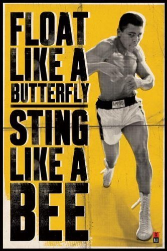 sting like a bee gym poster