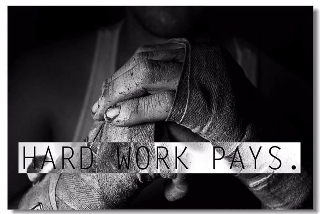 hard work pays gym poster