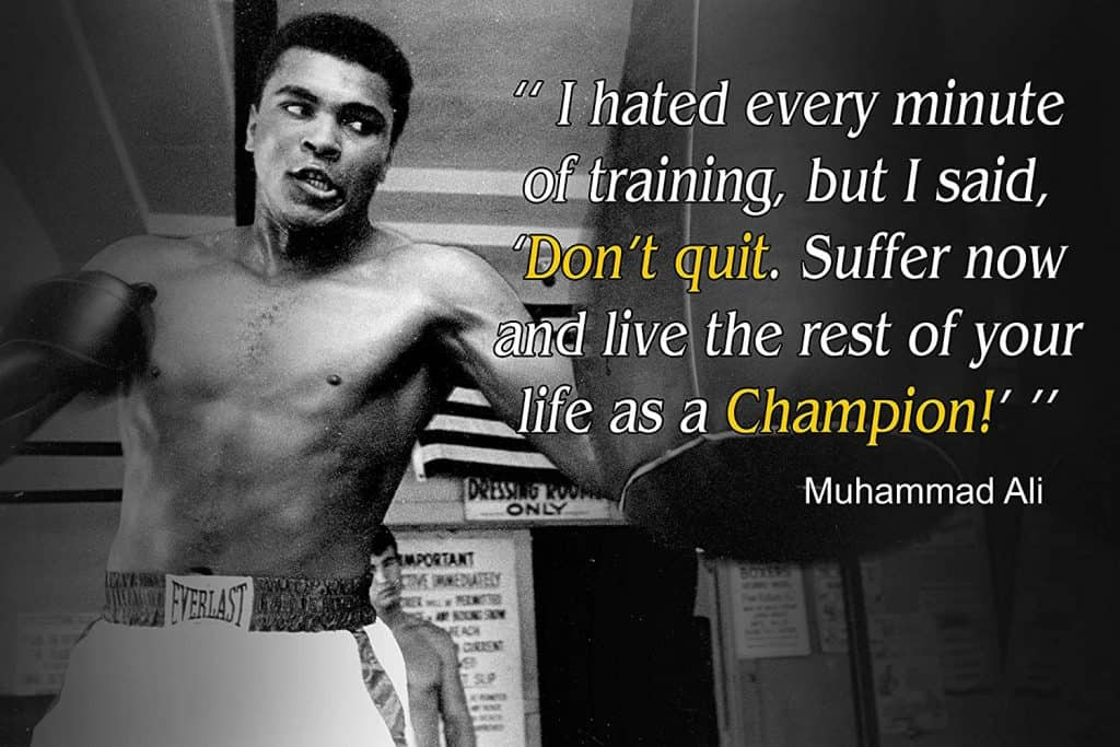 life as a champion ali gym poster