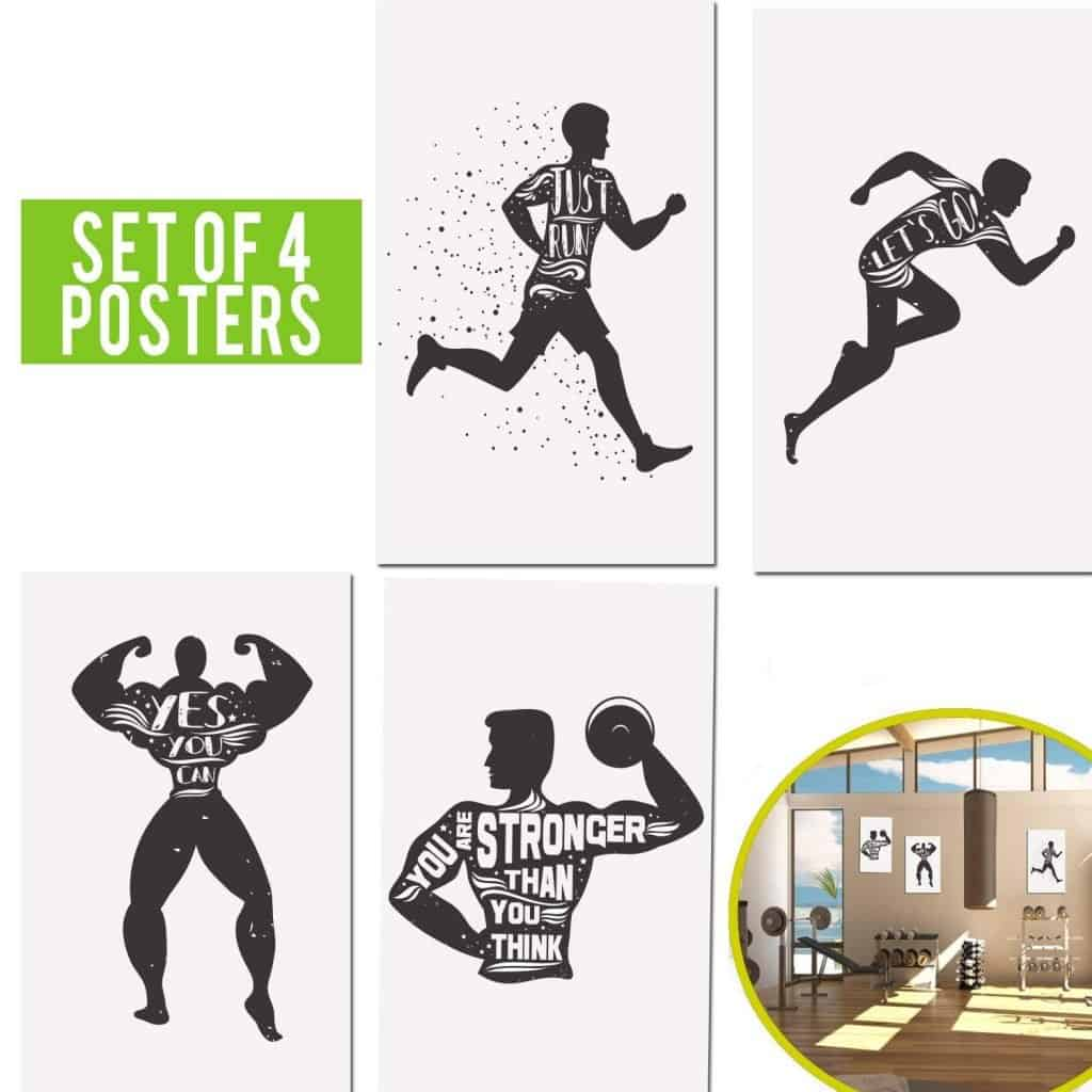 mens fitness gym posters