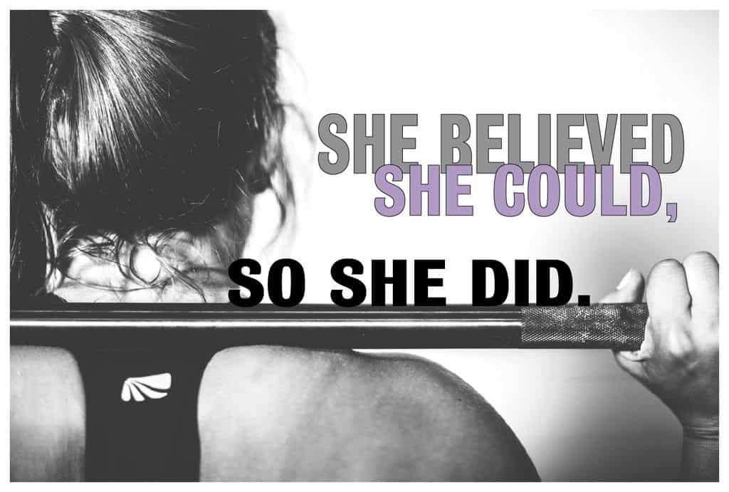 she believed she could so she did gym poster