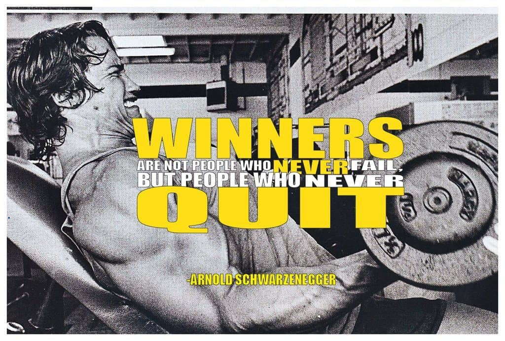 winners never quit gym poster
