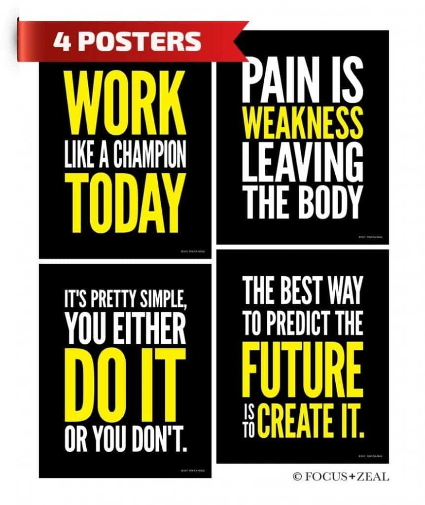 pain and workout gym poster