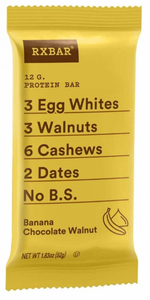 banana chocolate rxbar