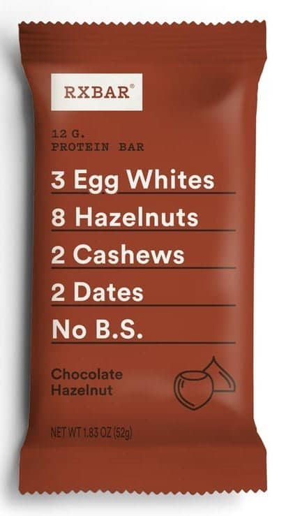 chocolate hazelnut rxbar